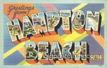 LLT200190 - Hampton Beach, NH, USA Large Letter Town Postcard Post Card Old Vintage Antique