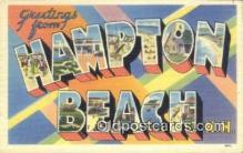 LLT200191 - Hampton Beach, NH, USA Large Letter Town Postcard Post Card Old Vintage Antique
