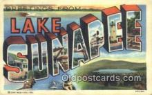 LLT200193 - Lake Sunapee, NH, USA Large Letter Town Postcard Post Card Old Vintage Antique