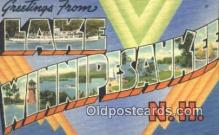 LLT200195 - Lake Winnipesaukee, NH, USA Large Letter Town Postcard Post Card Old Vintage Antique