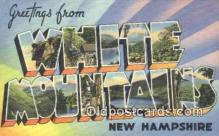 LLT200198 - White Mountains, New Hampshire, USA Large Letter Town Postcard Post Card Old Vintage Antique