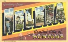LLT200199 - Helena, Montana, USA Large Letter Town Postcard Post Card Old Vintage Antique