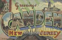 LLT200200 - Camden, New Jersey, USA Large Letter Town Postcard Post Card Old Vintage Antique
