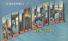 LLT200201 - Rochester, New York, USA Large Letter Town Postcard Post Card Old Vintage Antique
