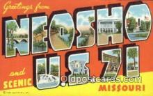 LLT200202 - Neosho, Missouri, USA Large Letter Town Postcard Post Card Old Vintage Antique