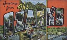 LLT200203 - Ozarks, MO, USA Large Letter Town Postcard Post Card Old Vintage Antique