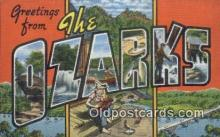 LLT200204 - Ozarks, MO, USA Large Letter Town Postcard Post Card Old Vintage Antique