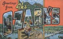 LLT200205 - Ozarks, MO, USA Large Letter Town Postcard Post Card Old Vintage Antique
