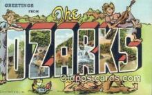 LLT200206 - Ozarks, MO, USA Large Letter Town Postcard Post Card Old Vintage Antique