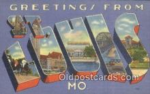 LLT200211 - St. Louis, MO, USA Large Letter Town Postcard Post Card Old Vintage Antique