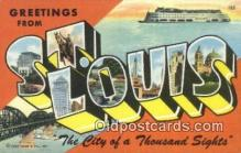 LLT200212 - St. Louis, MO, USA Large Letter Town Postcard Post Card Old Vintage Antique