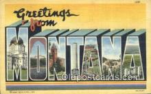 LLT200213 - Montana, USA Large Letter Town Postcard Post Card Old Vintage Antique