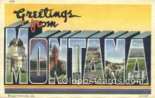 LLT200214 - Montana, USA Large Letter Town Postcard Post Card Old Vintage Antique