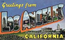 LLT200217 - Los Angeles, California, USA Large Letter Town Postcard Post Card Old Vintage Antique