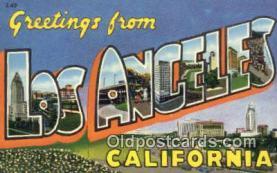 Los Angeles, California, USA Postcard Post Card