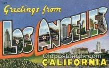 LLT200219 - Los Angeles, California, USA Large Letter Town Postcard Post Card Old Vintage Antique