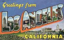LLT200223 - Los Angeles, California, USA Large Letter Town Postcard Post Card Old Vintage Antique