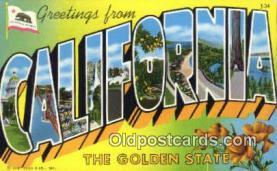 California, USA Postcard Post Card