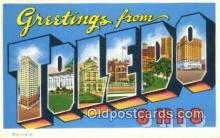 LLT200238 - Toledo, Ohio, USA Large Letter Town Postcard Post Card Old Vintage Antique