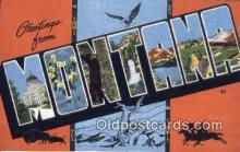 LLT200241 - Montana, USA Large Letter Town Postcard Post Card Old Vintage Antique
