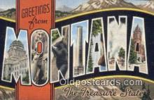 LLT200242 - Montana, USA Large Letter Town Postcard Post Card Old Vintage Antique