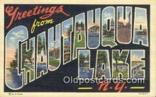 LLT200245 - Chautauqua Lake, NY, USA Large Letter Town Postcard Post Card Old Vintage Antique