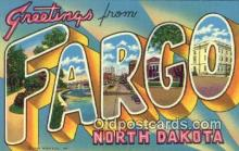 LLT200253 - Fargo, North Dakota, USA Large Letter Town Postcard Post Card Old Vintage Antique