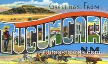 LLT200255 - Tucumcara, NM, USA Large Letter Town Postcard Post Card Old Vintage Antique