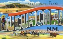 LLT200256 - Tucumcara, NM, USA Large Letter Town Postcard Post Card Old Vintage Antique