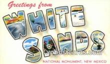 LLT200257 - White Sands National Monument, New Mexico, USA Large Letter Town Postcard Post Card Old Vintage Antique