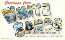 LLT200258 - White Sands National Monument, New Mexico, USA Large Letter Town Postcard Post Card Old Vintage Antique
