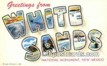 LLT200259 - White Sands National Monument, New Mexico, USA Large Letter Town Postcard Post Card Old Vintage Antique
