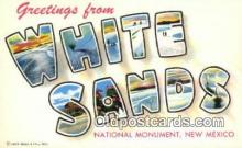 LLT200260 - White Sands National Monument, New Mexico, USA Large Letter Town Postcard Post Card Old Vintage Antique
