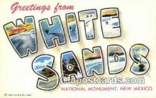 LLT200261 - White Sands National Monument, New Mexico, USA Large Letter Town Postcard Post Card Old Vintage Antique