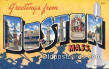 LLT200263 - Boston, Mass, USA Large Letter Town Postcard Post Card Old Vintage Antique