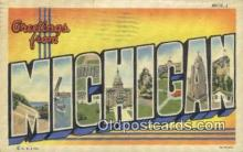 LLT200265 - Michigan, USA Large Letter Town Postcard Post Card Old Vintage Antique