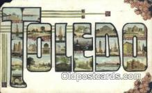 LLT200269 - Toldeo, OH, USA Large Letter Town Postcard Post Card Old Vintage Antique