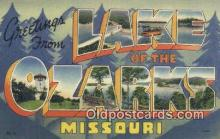 LLT200273 - Lake of the Ozarks, Missouri, USA Large Letter Town Postcard Post Card Old Vintage Antique