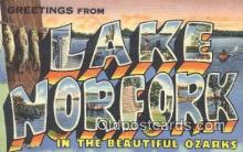 LLT200274 - Lake Norfork, MO, USA Large Letter Town Postcard Post Card Old Vintage Antique