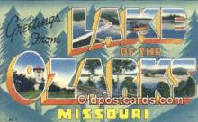 LLT200275 - Lake of the Ozarks, Missouri, USA Large Letter Town Postcard Post Card Old Vintage Antique