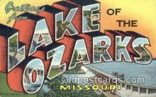 LLT200276 - Lake of the Ozarks, Missouri, USA Large Letter Town Postcard Post Card Old Vintage Antique