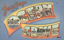 LLT200290 - Ocean City, NJ, USA Large Letter Town Postcard Post Card Old Vintage Antique