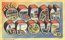 LLT200291 - Ocean City, NJ, USA Large Letter Town Postcard Post Card Old Vintage Antique