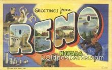 LLT200292 - Reno, Nevada, USA Large Letter Town Postcard Post Card Old Vintage Antique