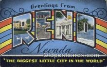LLT200294 - Reno, Nevada, USA Large Letter Town Postcard Post Card Old Vintage Antique