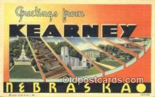 LLT200296 - Kearney, Nebraska, USA Large Letter Town Postcard Post Card Old Vintage Antique