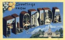 LLT200297 - Florida, USA Large Letter Town Postcard Post Card Old Vintage Antique
