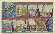 LLT200310 - New York, USA Large Letter Town Postcard Post Card Old Vintage Antique
