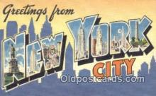 LLT200318 - New York City, USA Large Letter Town Postcard Post Card Old Vintage Antique