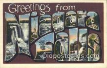 LLT200319 - Niagara Falls, NY, USA Large Letter Town Postcard Post Card Old Vintage Antique
